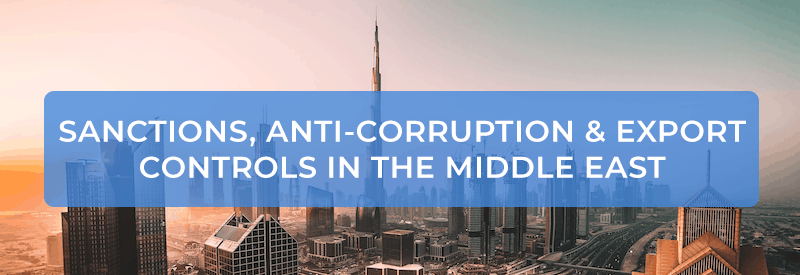 Nielsonsmith - Sanctions, Anti-Corruption & Export Controls in the Middle East banner